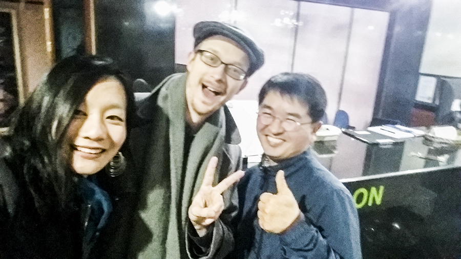 Wefie with the manager of Hotel Bonbon, Seoul, South Korea.