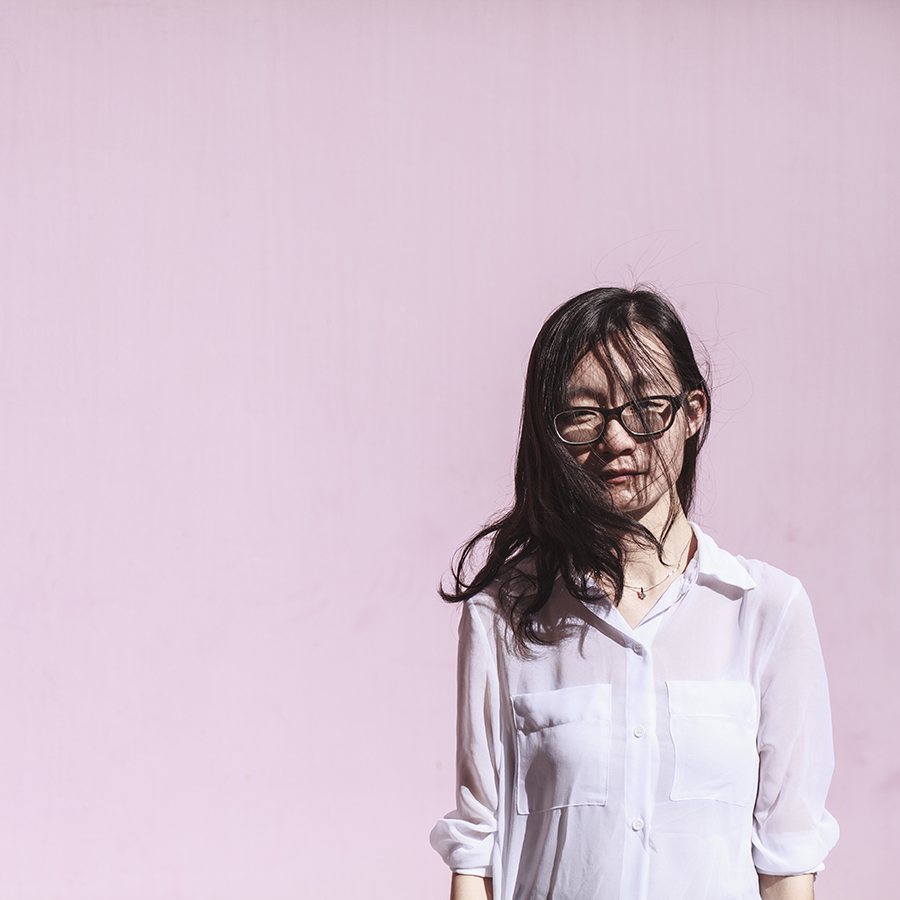 Outfit: M)phosis sheer white blouse, Gap black rimmed glasses.