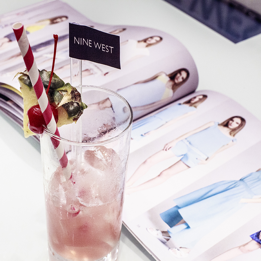 Pink mocktail and SS15 pastel collection at the Nine West SS15 Collection launch preview at Suntec, Singapore.