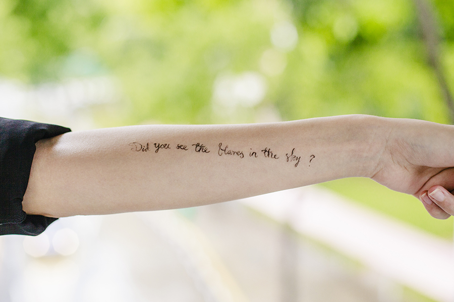 Lyrics from The Script - Flares on my arm.