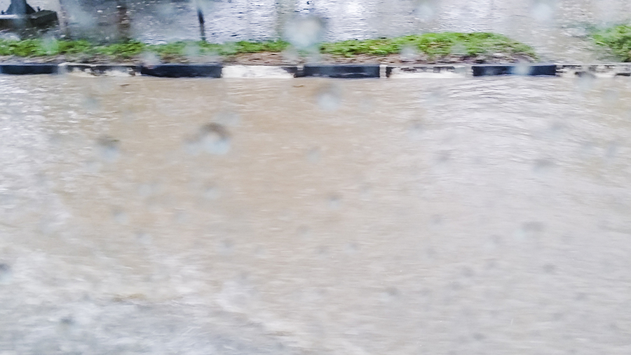 Flooding on the roads in Batam, Indonesia.