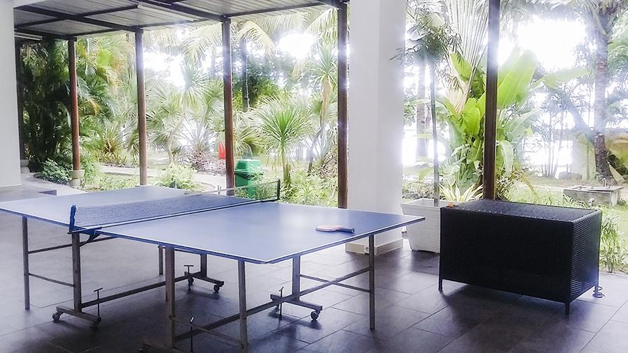 Ping pong (table tennis) tables at Harris Waterfront Resort, Batam, Indonesia.