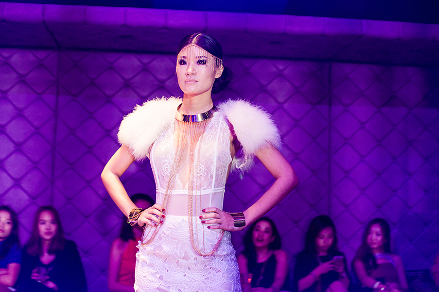 Vanilla Luxury Fashion Runway at the Sky Grande Prix Fashion Party at Empire, Singapore Land Tower.