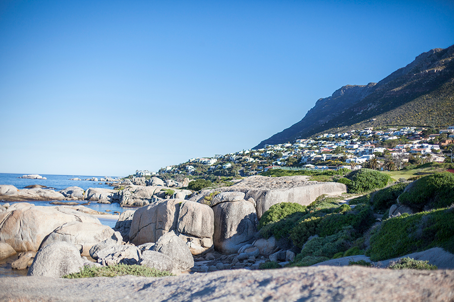 Landscape at Boulders Beach, Table Mountain National Park, Cape Town, South Africa.