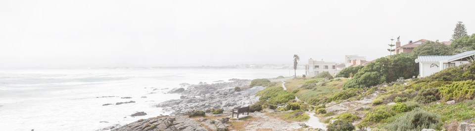 Panoramic View of the ocean at Yzerfontein, South Africa.