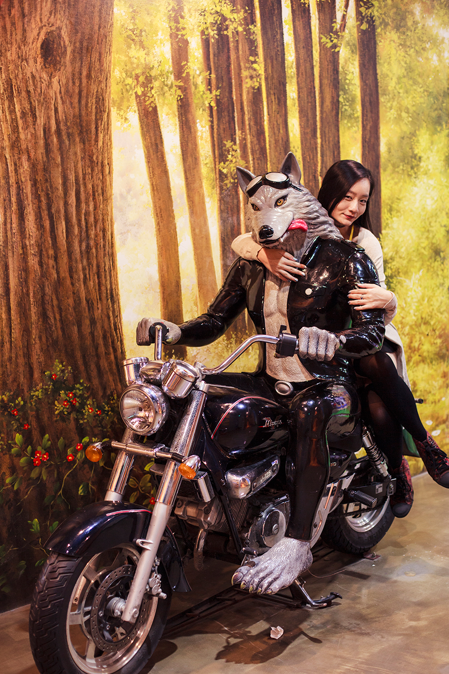 Ren and bae Mr. Big Bad Wolf at the Trick Eye Museum Renewal Event in Singapore, Resorts World Sentosa.