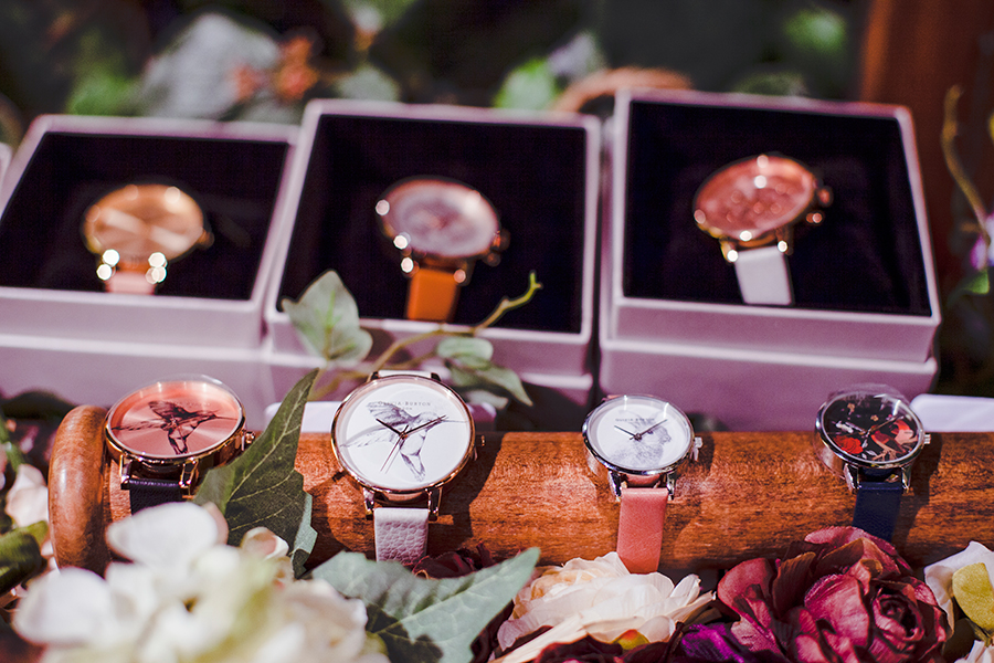 Woodland style watches at the Kapok x Olivia Burton launch at National Design Centre, Singapore.