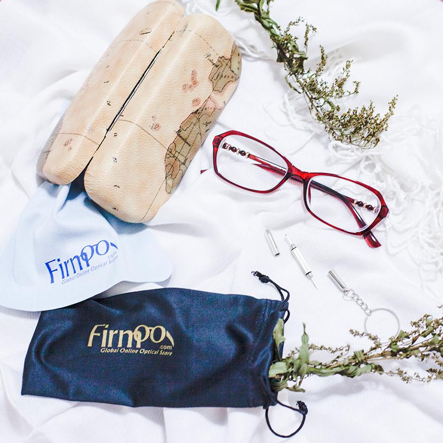 2fc5abdd47 Flatlay of Firmoo.com prescription glasses goodies.