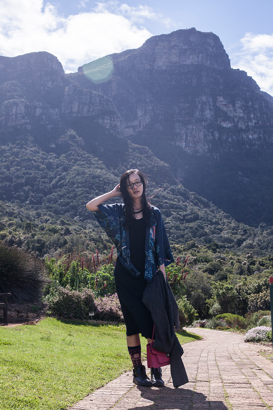 Outfit at Kirstenbosch, South Africa.