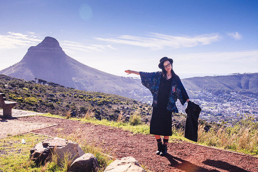 Portrait at Table Mountain, Cape Town.