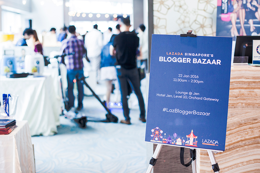 Lazada Singapore's Blogger Bazaar at Orchard Gateway Hotel Jen on 22 January 2016.