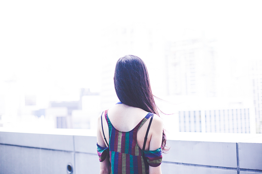 Outfit to the Lazada Singapore's Blogger Bazaar: Urban Outfitters striped dress.
