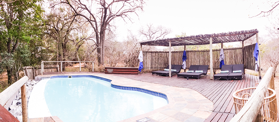 Pool at Rhino Post Safari Lodge, Kruger National Park, South Africa.