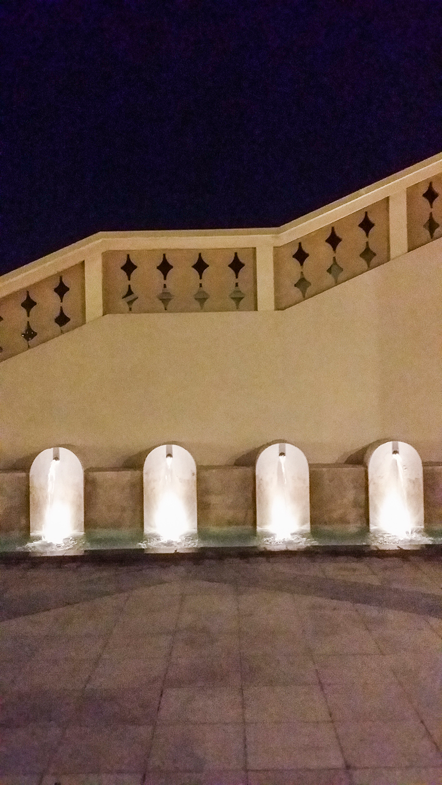 Small fountains at Pearl-Qatar, Doha.