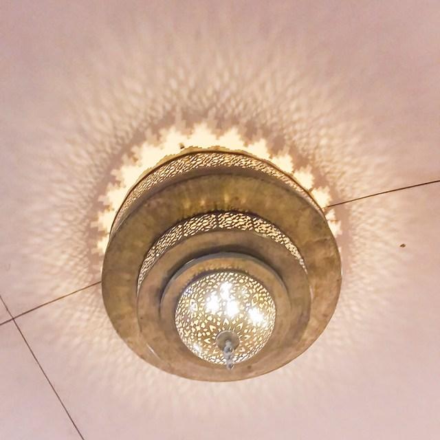Ceiling lamp at Pearl-Qatar, Doha.