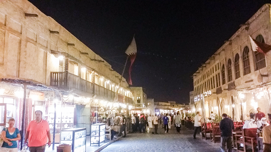 Street at Souq Waqif (سوق واقف), Doha, Qatar.