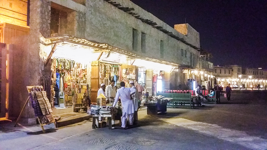 Shops at Souq Waqif (سوق واقف), Doha, Qatar.
