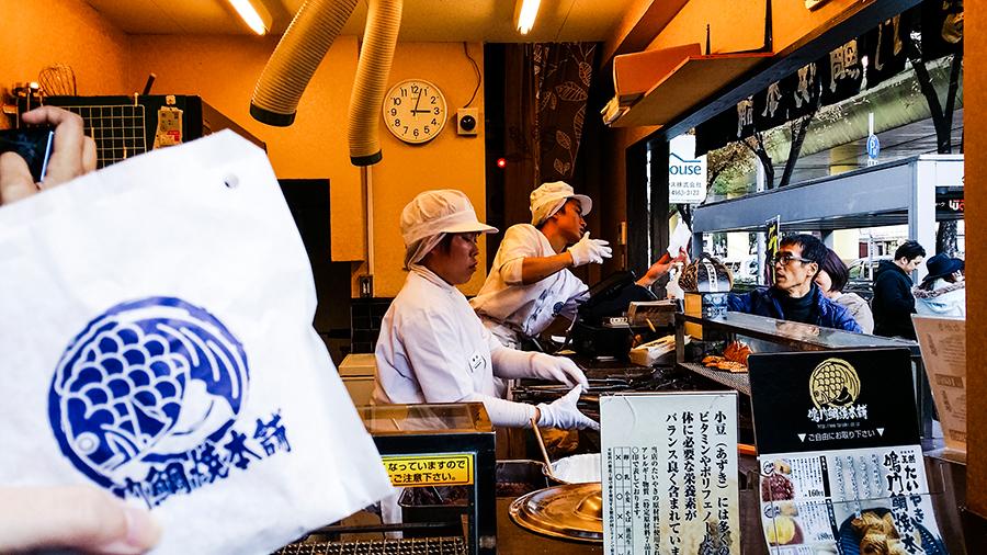 Taiyaki snack in Osaka, Japan.