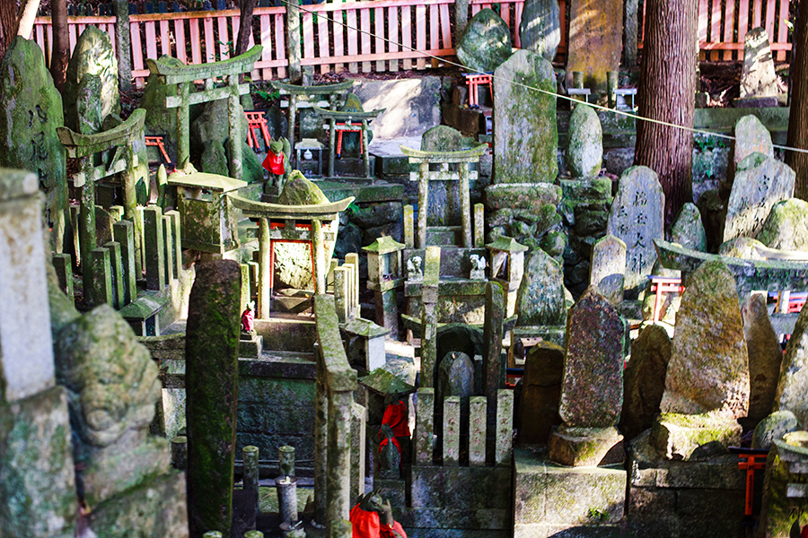 Shrines at Fushimi Inari in Kyoto, Japan.