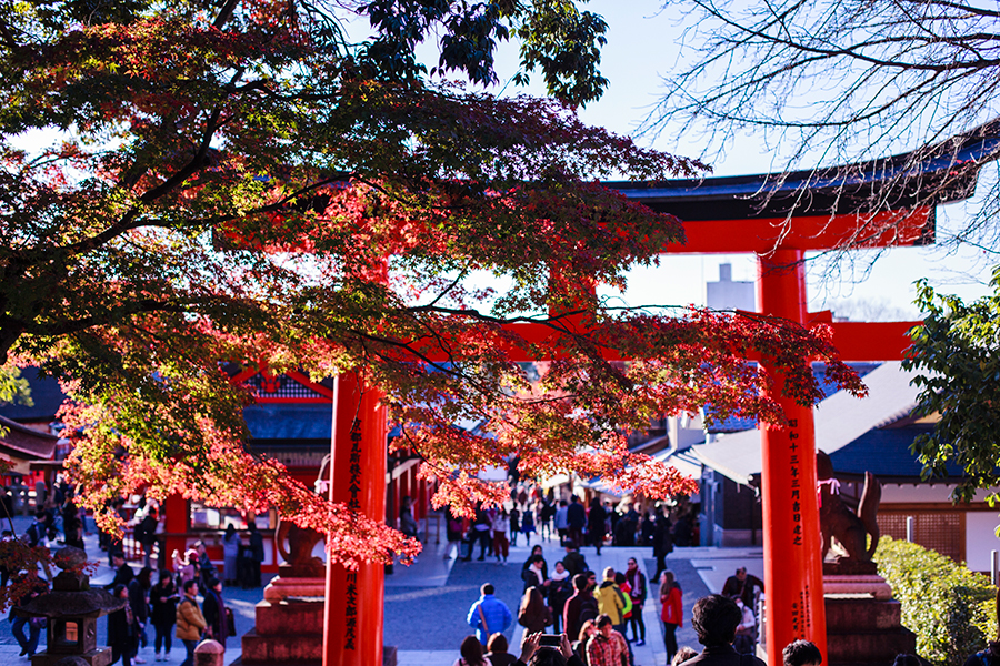 Entrance at Fushimi Inari in Kyoto, Japan.