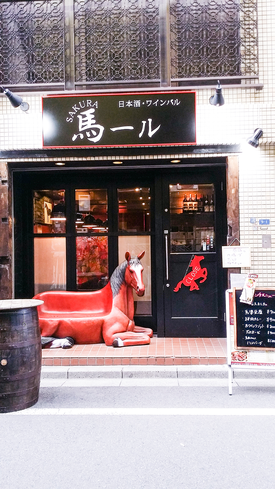 Baaru and a horse chair in Tokyo, Japan.