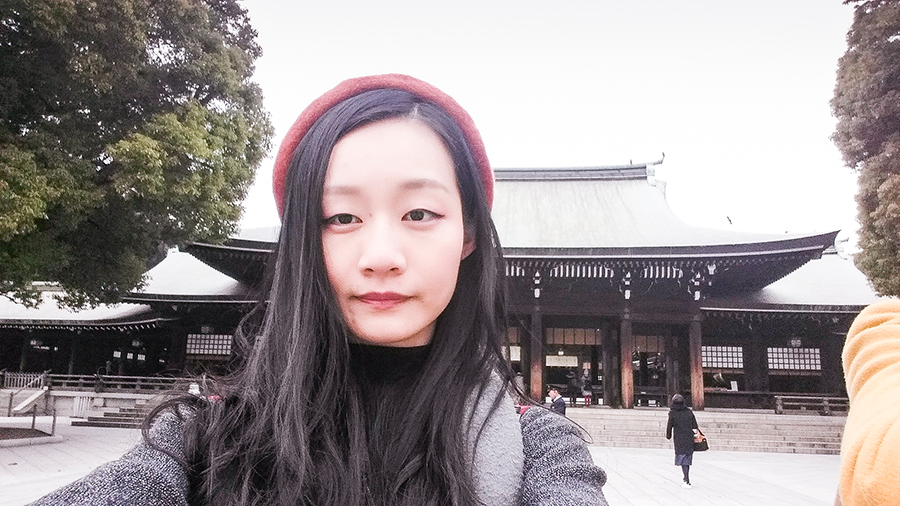 Selfie at Meiji Shrine at Harajuku, Tokyo Japan.