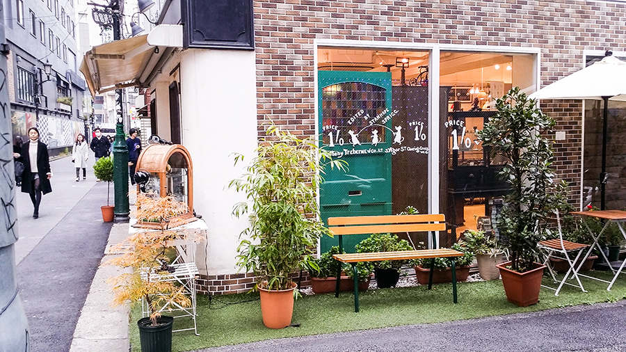 Hipster shops and cafes in Harajuku, Tokyo Japan.