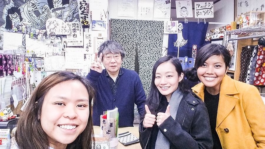 Selfie with the owner of Trunks-ya in Tokyo, Japan.