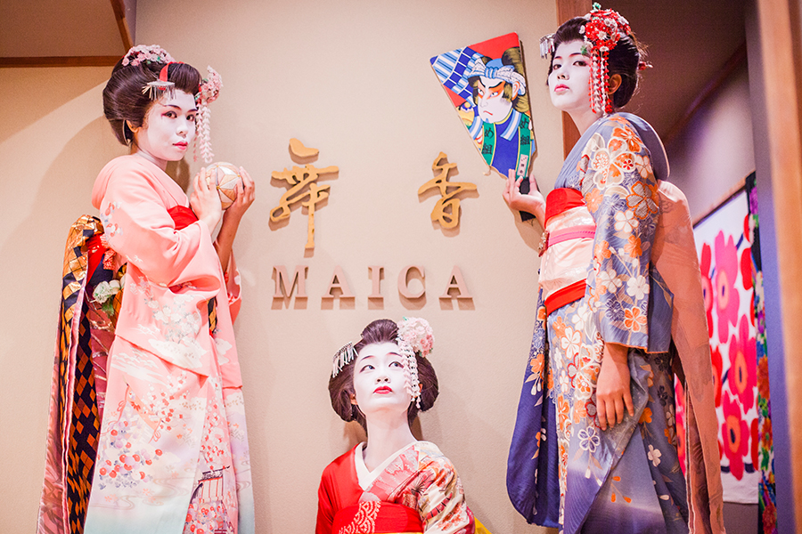 Maiko makeover at Maica in Gion, Kyoto Japan.