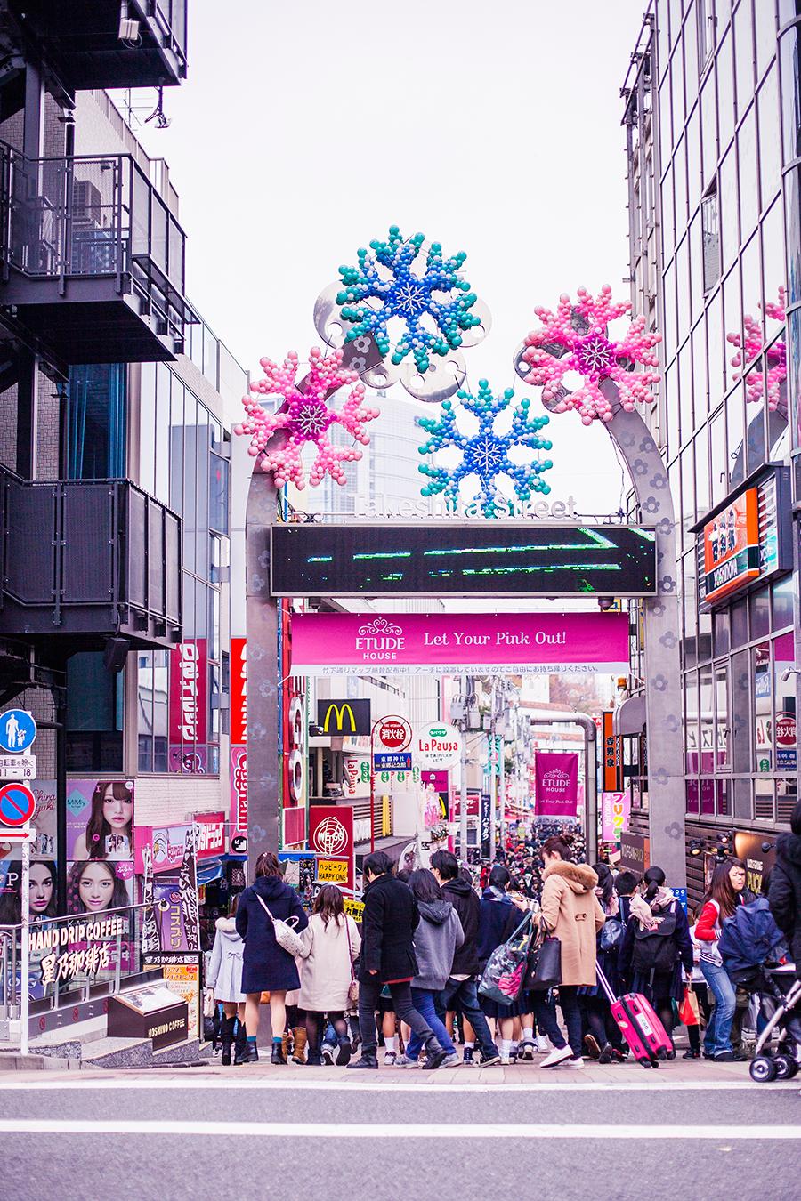 Takeshitadoori in Harajuku, Tokyo Japan.