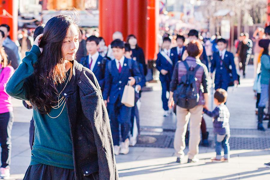 H&M outerwear at Asakusa, Tokyo Japan.