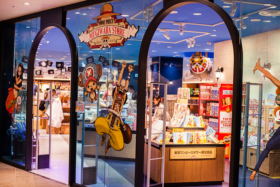 Mugiwara Store at One Piece Tower, Tokyo Tower Japan.
