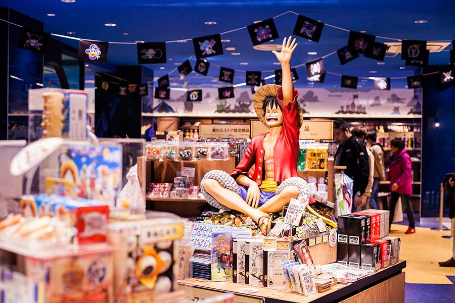 Luffy at the Mugiwara Store at One Piece Tower, Tokyo Tower Japan.