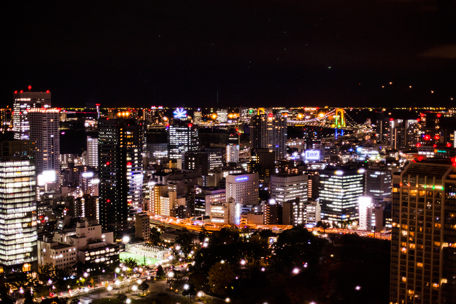 Night skyline of Tokyo from Tokyo Tower Observatory.