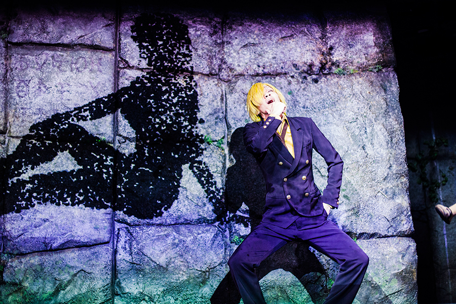 Sanji at the One Piece Live Attraction Show at One Piece Tower, Tokyo Tower Japan.