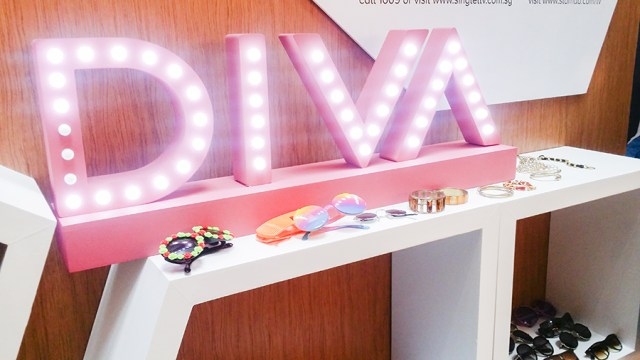 Accessories at the photobooth at the How Do I Look Asia Season 2 premiere party, Singapore.