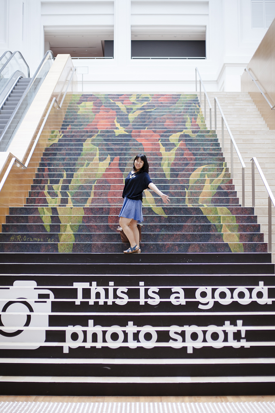National Gallery Singapore: This is a good photo spot decal of Dancing Mutants by Hernando R. Ocampo, Oil on canvas, 1965.