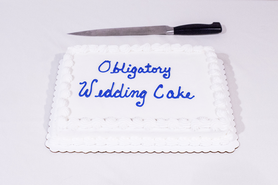 Obligatory store-bought wedding cake.