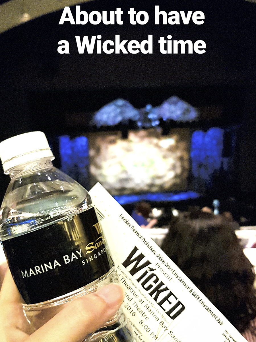 Set of Wicked the Musical at Marina Bay Sands, Singapore.