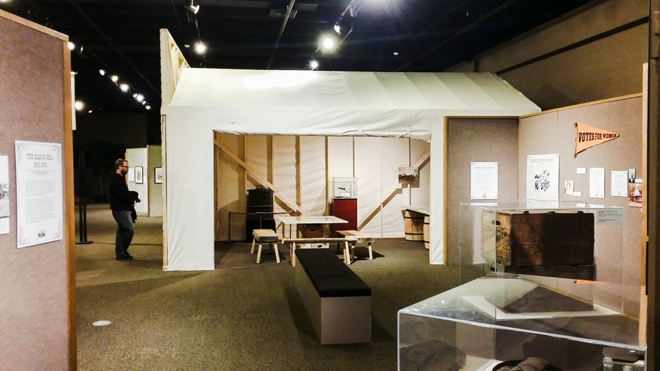 Replica of an alcohol tents during the Prohibition in the USA.