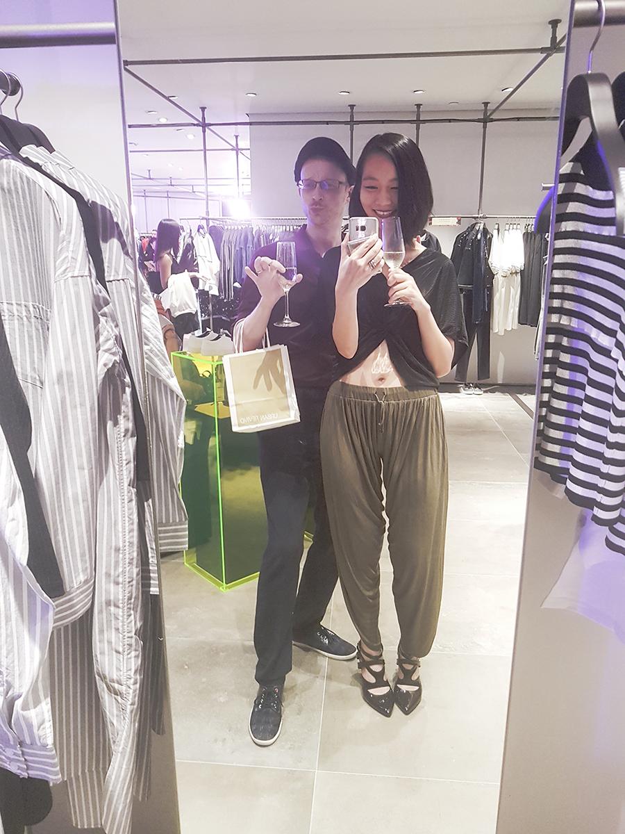 Mirror selfie at the URBAN REVIVO at Raffles City media launch.