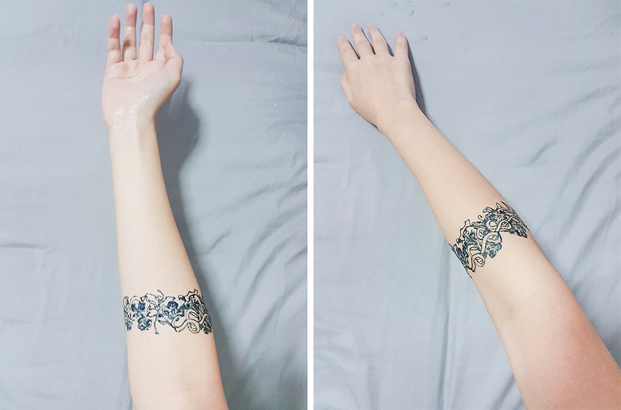 Inkbox Tattoo: Jugenstil art noveau armband tattoo.