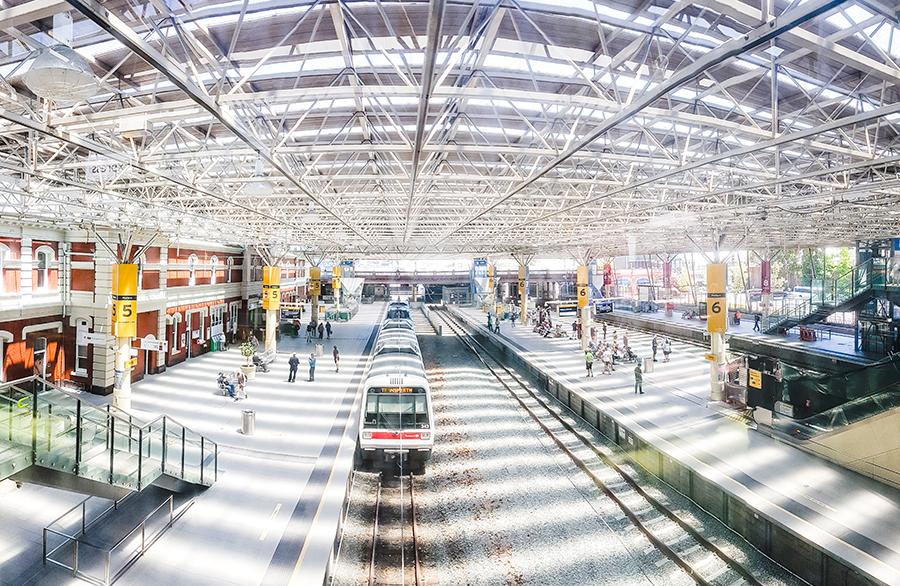 Train station in Perth, Australia.