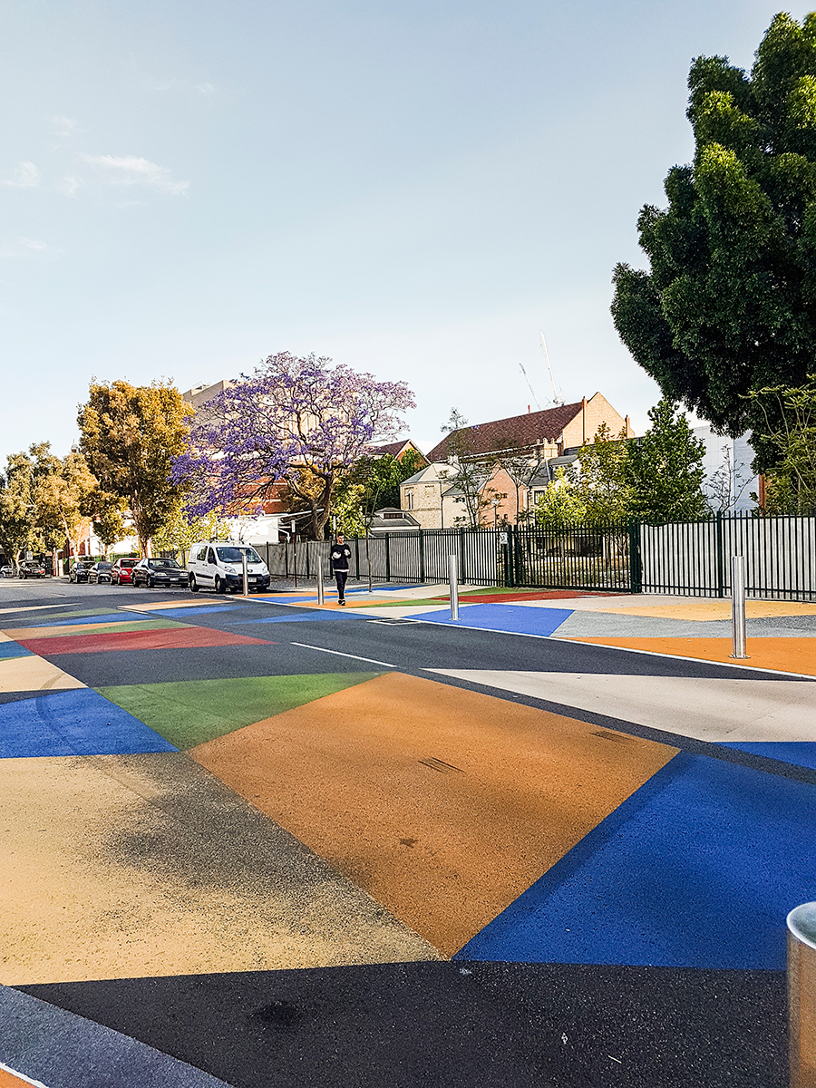Colourful ground in Perth Australia.