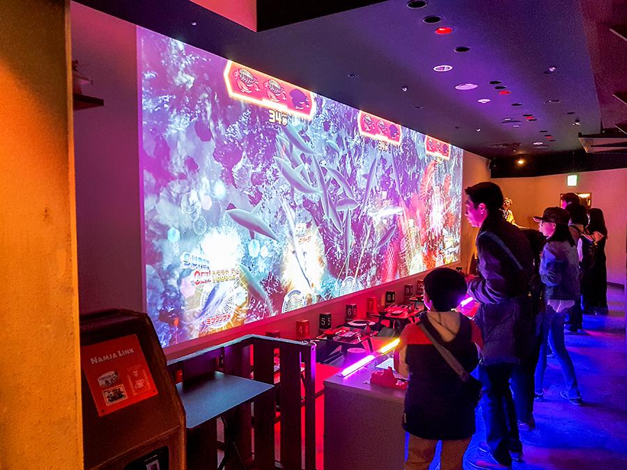 Interactive fishing game in Namja Town, Ikebukuro Tokyo.