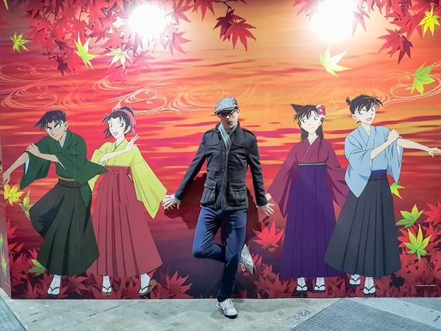 Detective Conan photo wall at Anime Japan Expo 2017, Big Sight Tokyo.