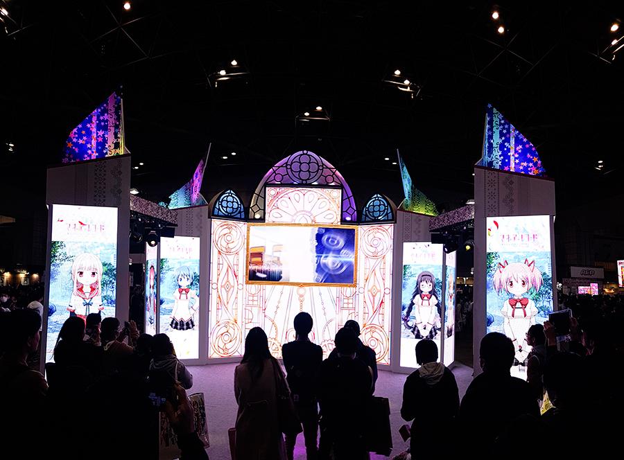Puella Magi Madoka Magica screens at Anime Japan Expo 2017, Big Sight Tokyo.
