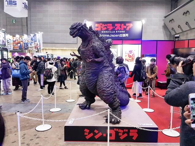 Godzilla at Anime Japan Expo 2017, Big Sight Tokyo.