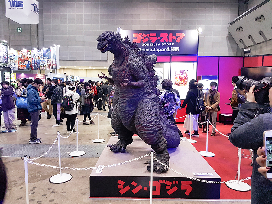 Godzilla at Anime Japan Expo 2017, Big Sight Tokyo.