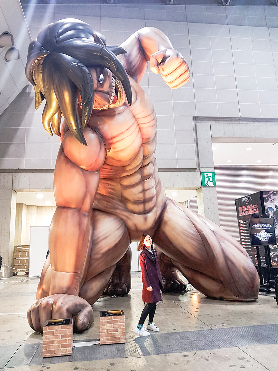 Attack on Titan at Anime Japan Expo 2017, Big Sight Tokyo.